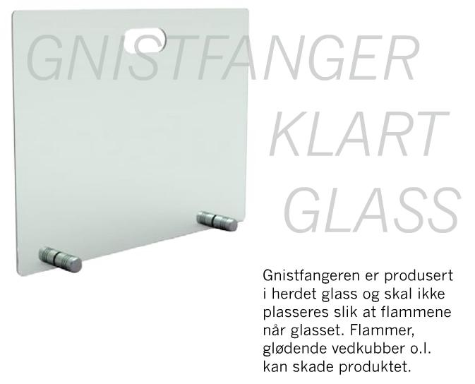 Kjempebra Gnistfanger i glass, 50 høy, 65 bred - RK-Smia.no EX-42