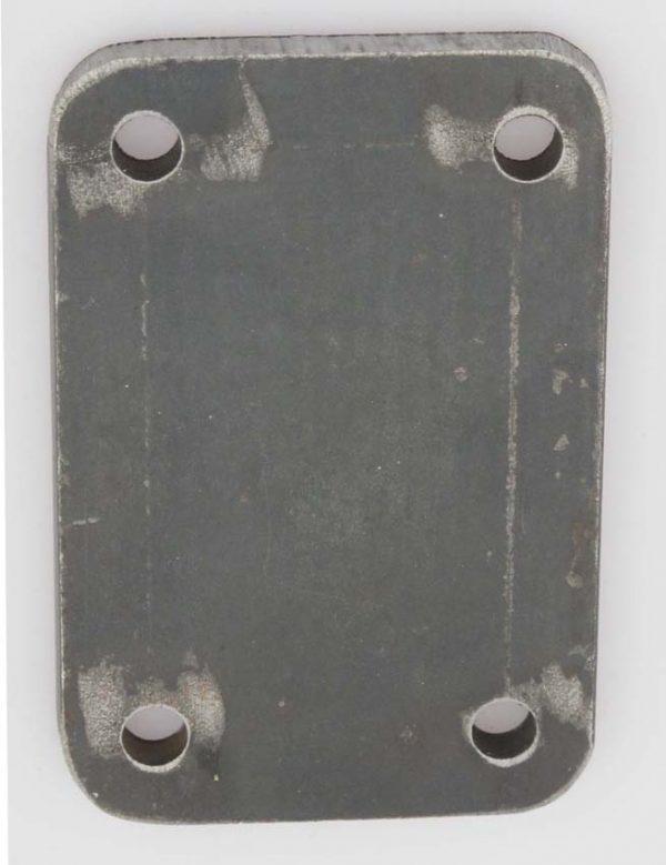 Plate for side eller bunnmontering, sveises på i bunn/side av Sørlangstolper